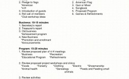 002 Top Formal Meeting Agenda Template Doc Highest Quality