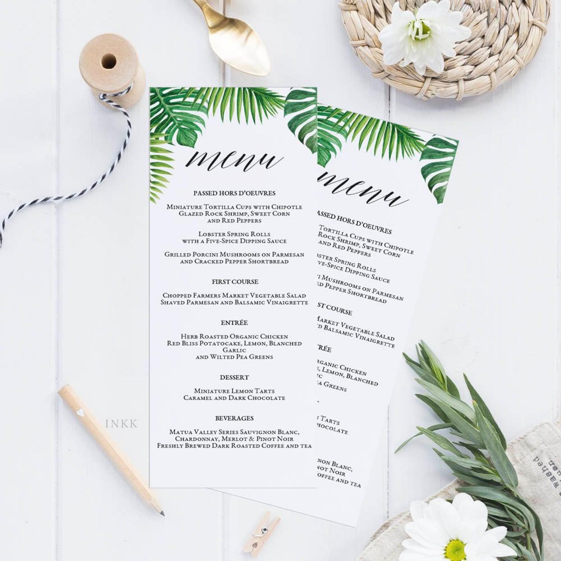 002 Top Free Printable Wedding Menu Card Template High Resolution  Templates1920