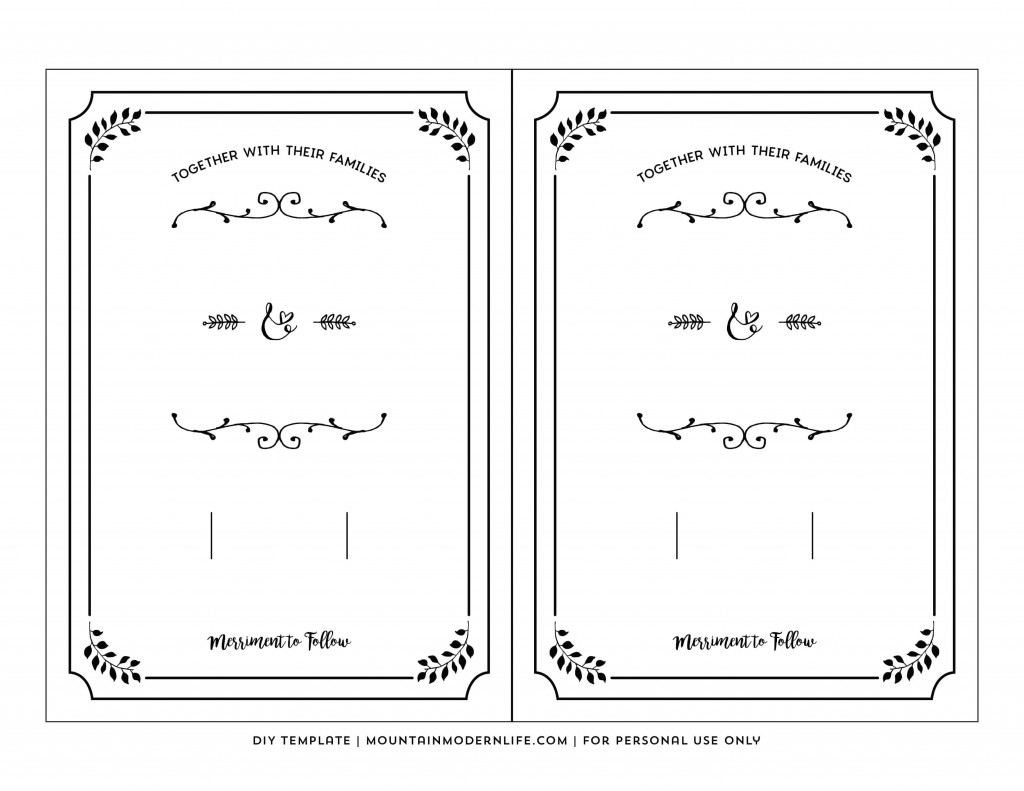 002 Top Free Wedding Invitation Template Printable Example  For Microsoft Word MacLarge