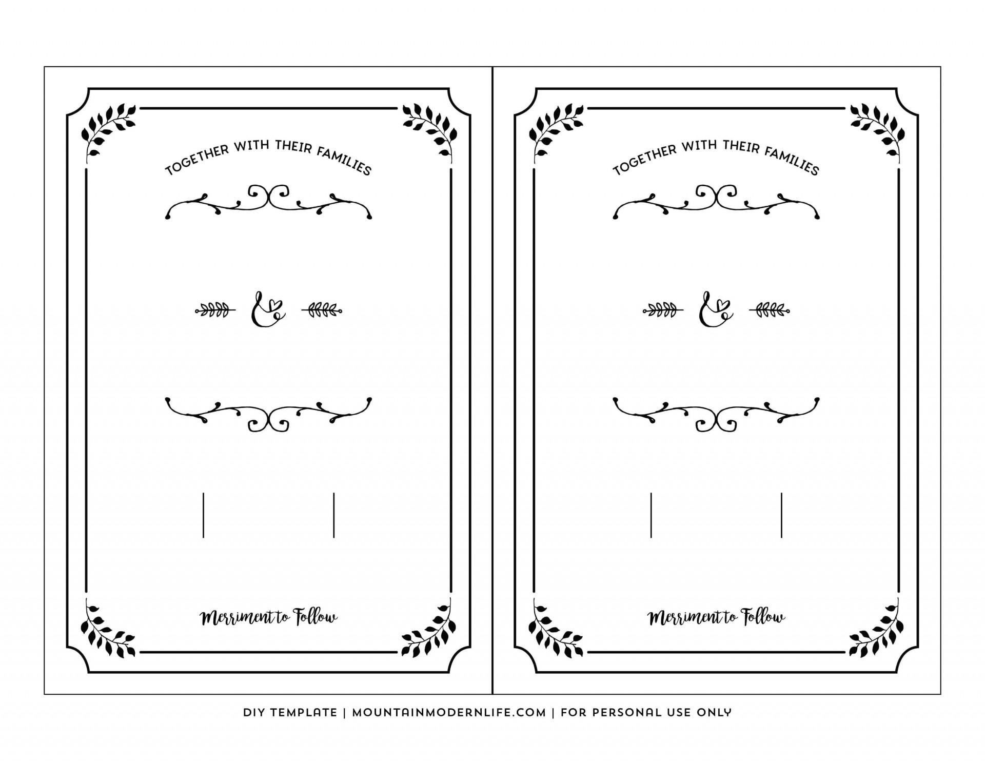 002 Top Free Wedding Invitation Template Printable Example  For Microsoft Word Mac1920