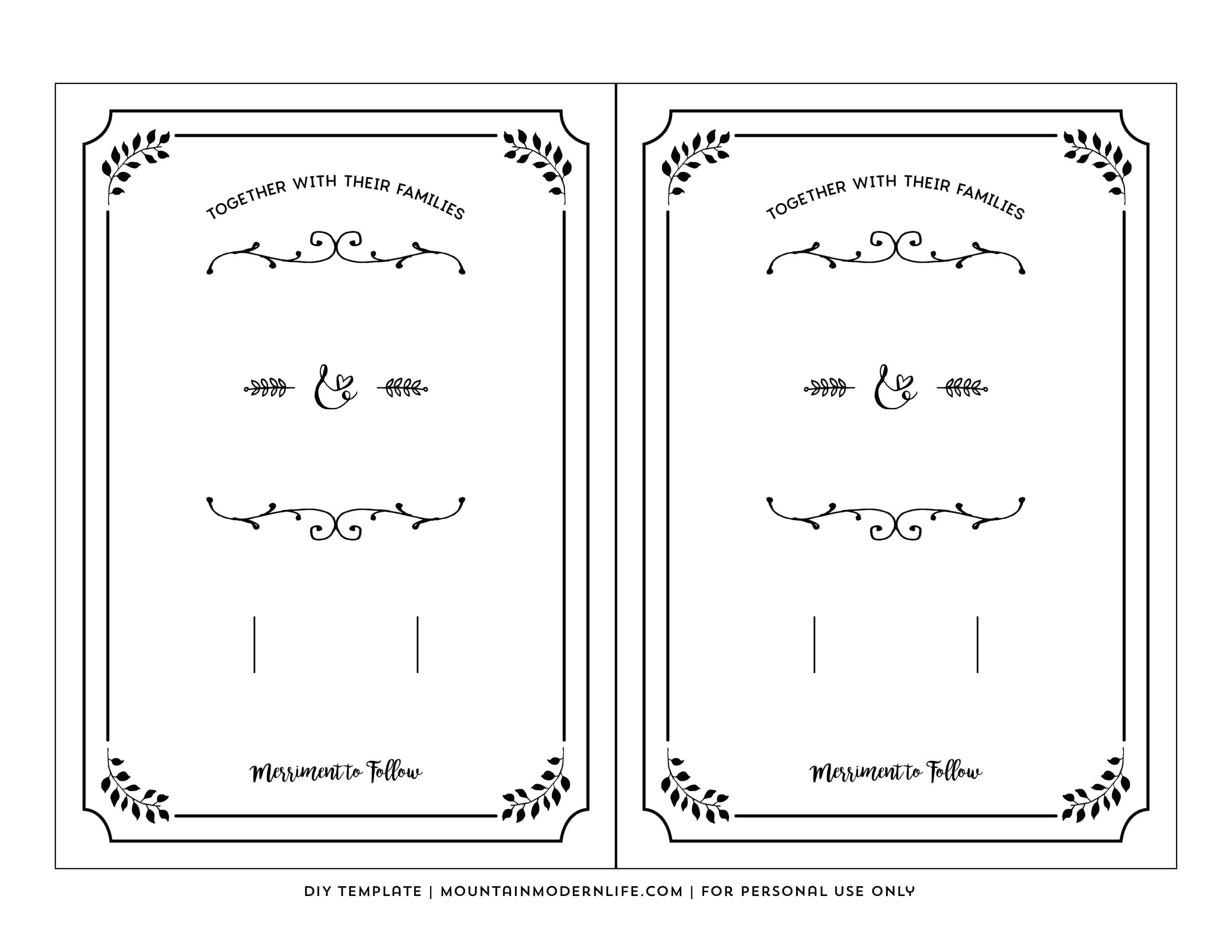 002 Top Free Wedding Invitation Template Printable Example  For Microsoft Word MacFull