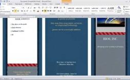 002 Top M Word Brochure Format High Def  Template Download Microsoft