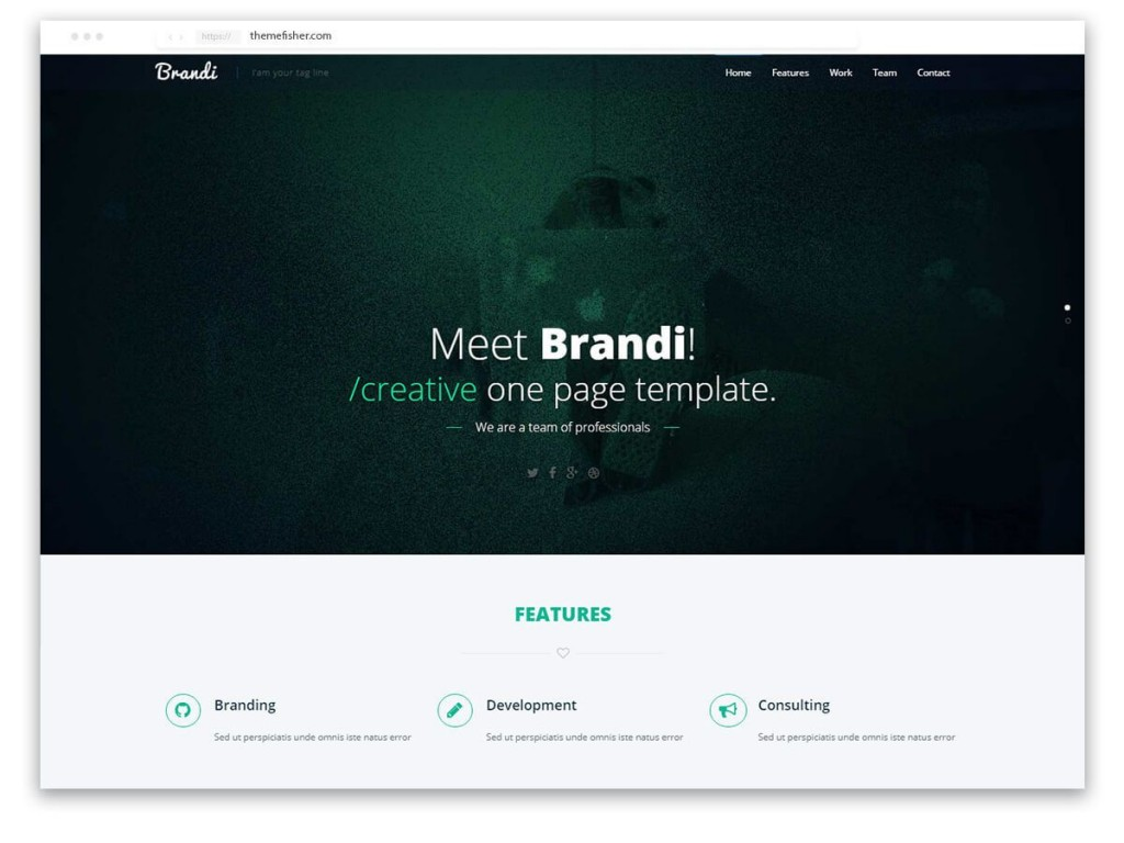 002 Top One Page Responsive Website Template Bootstrap Free Inspiration  DownloadLarge