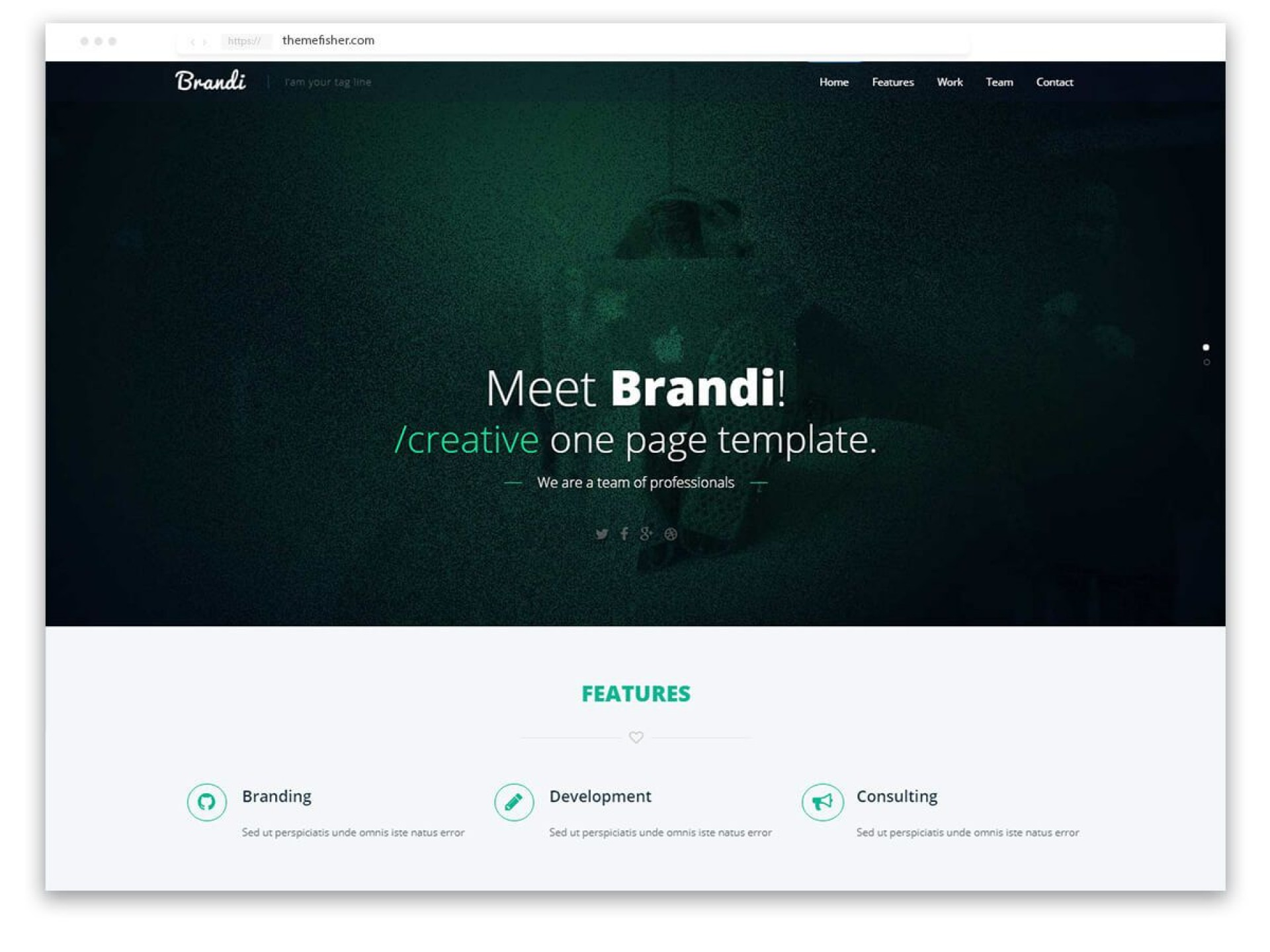 002 Top One Page Responsive Website Template Bootstrap Free Inspiration  Download1920