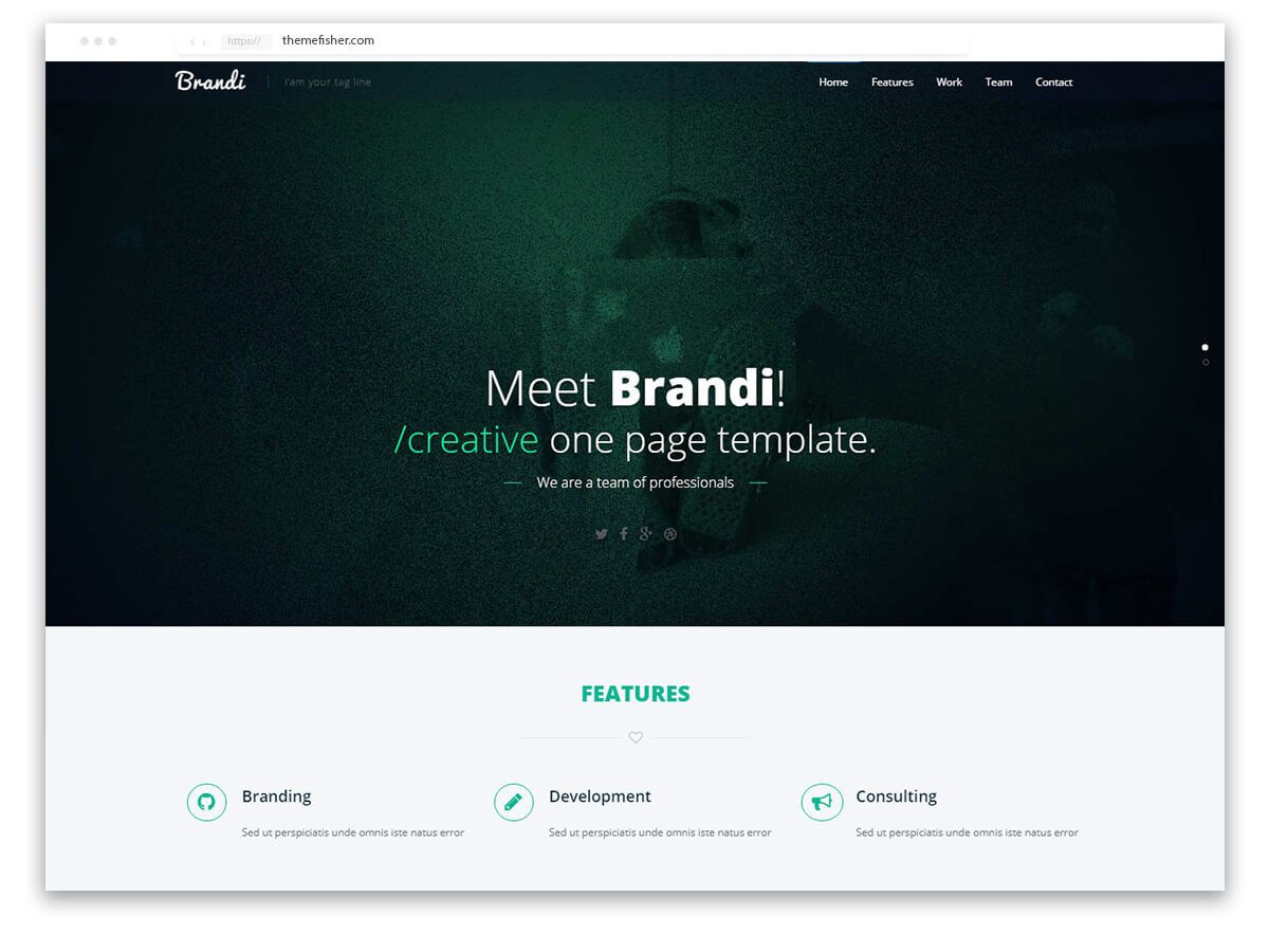 002 Top One Page Responsive Website Template Bootstrap Free Inspiration  DownloadFull