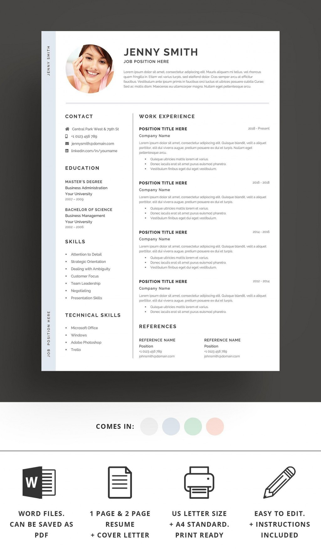 002 Top Resume Template Word 2016 High Definition  Cv ProfessionalLarge
