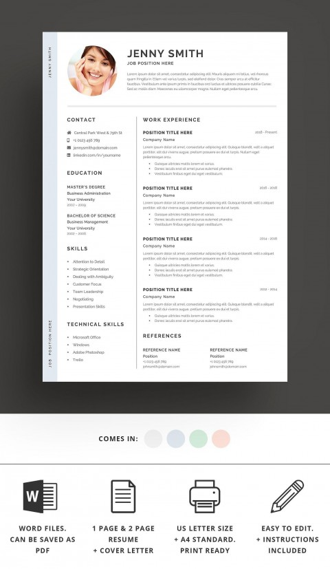002 Top Resume Template Word 2016 High Definition  Cv Microsoft Download Free480