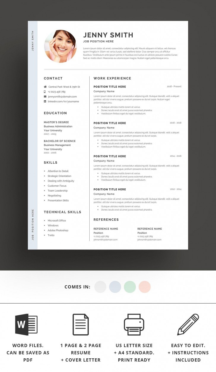 002 Top Resume Template Word 2016 High Definition  Cv Microsoft Download Free728