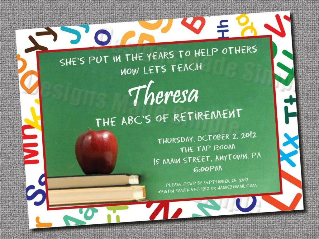 002 Top Retirement Party Invitation Template Free Idea  M WordLarge