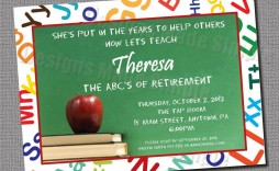 002 Top Retirement Party Invitation Template Free Idea  M Word