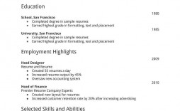 002 Top Simple Job Resume Template Inspiration  Download First