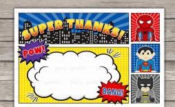 002 Top Superhero Birthday Party Invitation Template Free Highest Clarity  Invite