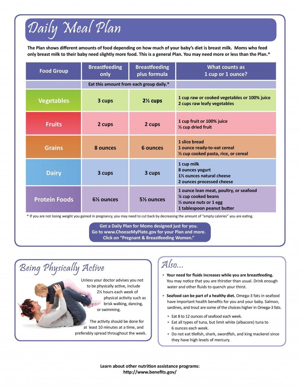 002 Unbelievable Breastfeeding Meal Plan Sample Pdf High Def Large