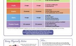 002 Unbelievable Breastfeeding Meal Plan Sample Pdf High Def