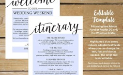 002 Unbelievable Destination Wedding Itinerary Template Sample  Welcome Letter And Free
