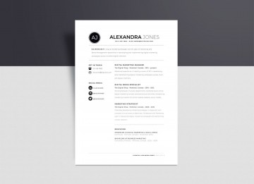 002 Unbelievable Download Free Resume Template Word 2018 Picture 360