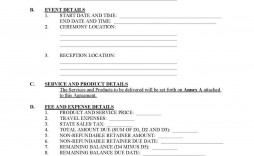 002 Unbelievable Event Planner Contract Template Design  Free Download Planning