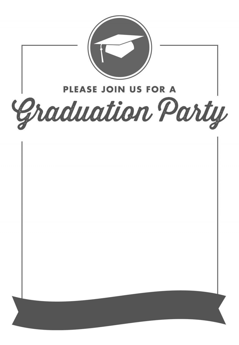 002 Unbelievable Free Graduation Invitation Template Printable High Resolution  Party For Word Preschool960