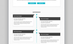 002 Unbelievable Free Html Resume Template Sample  Html5 Best Cv Desmond / Download