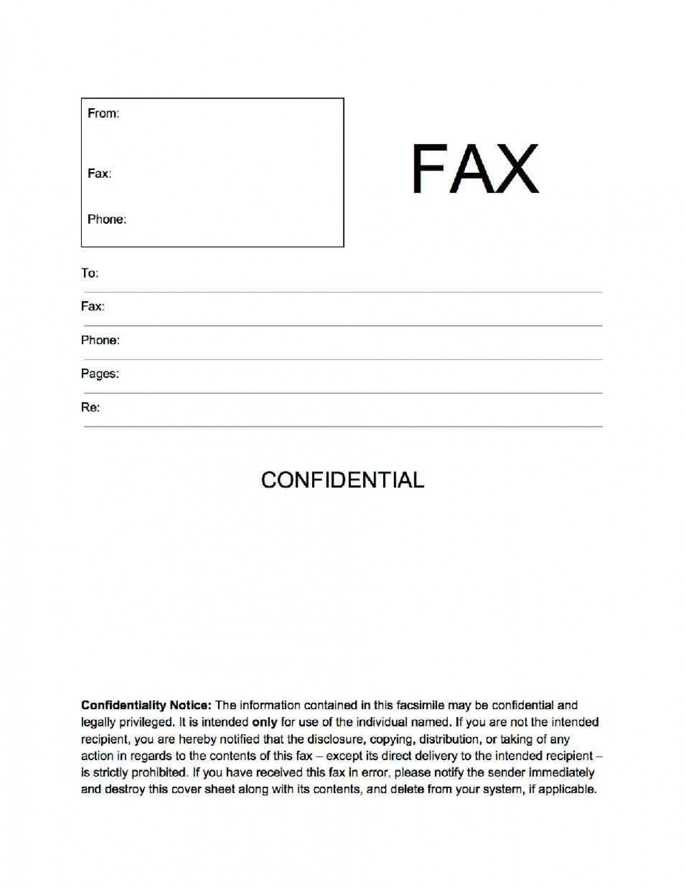 002 Unbelievable General Fax Cover Letter Template Concept  Sheet Word Confidential Example1400
