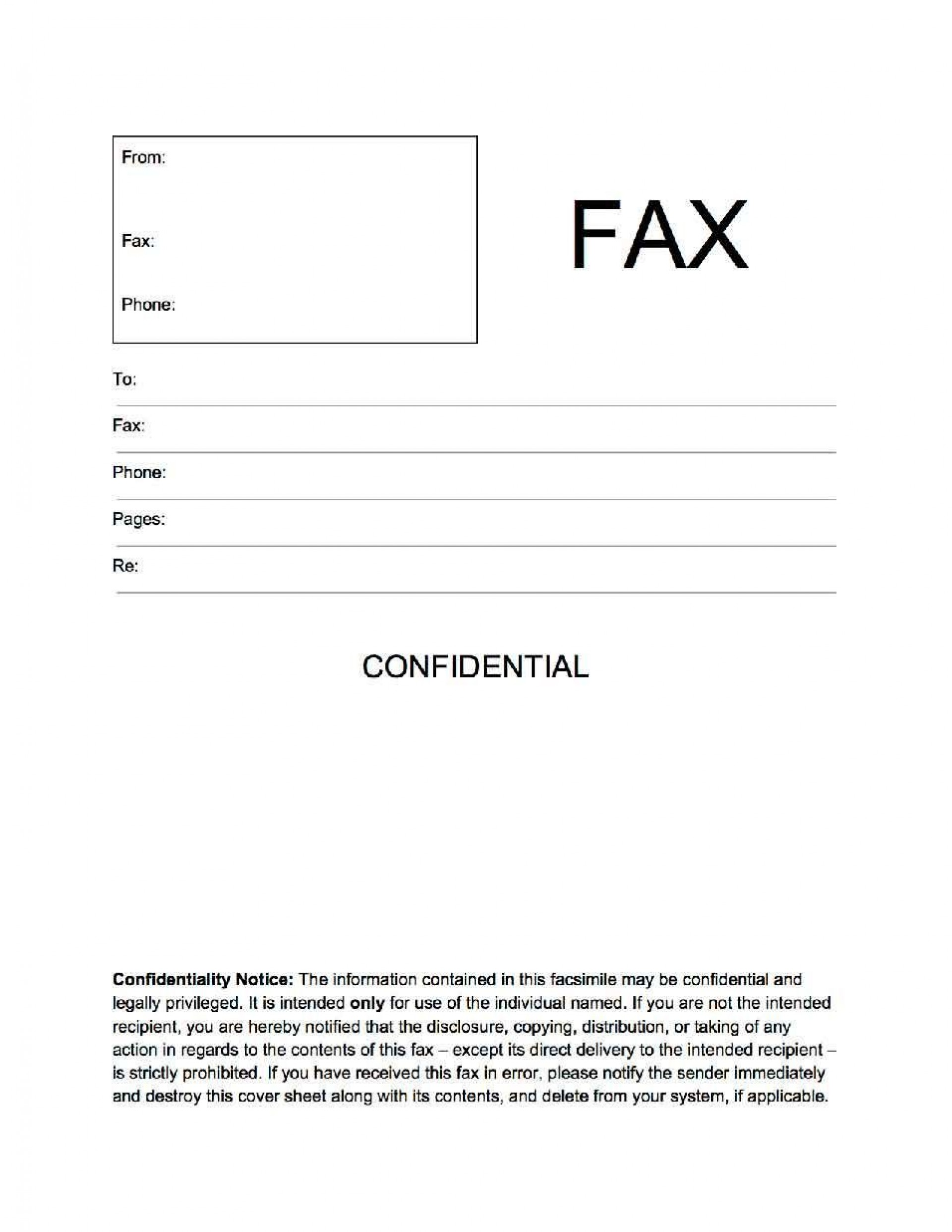 002 Unbelievable General Fax Cover Letter Template Concept  Sheet Word Confidential Example1920