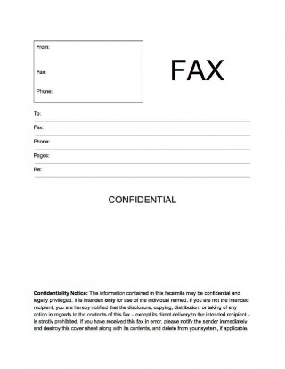 002 Unbelievable General Fax Cover Letter Template Concept  Sheet Word Confidential Example320