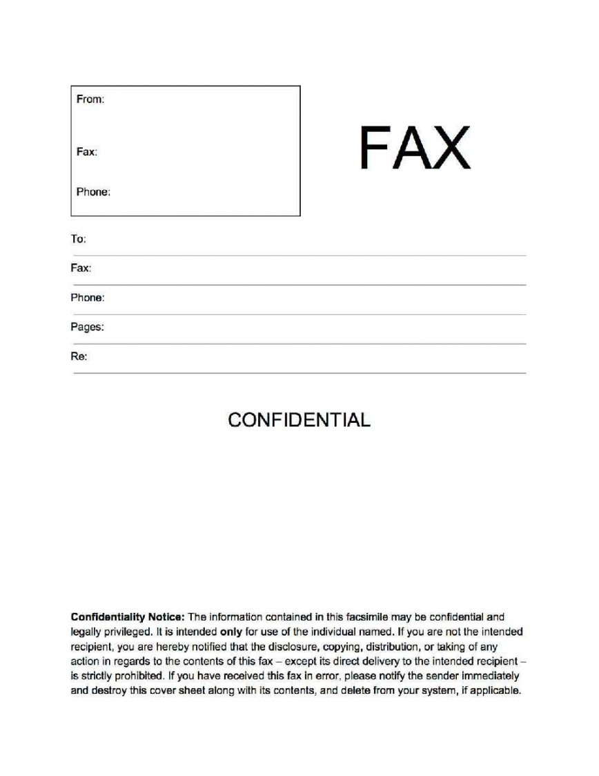 002 Unbelievable General Fax Cover Letter Template Concept  Sheet Word Confidential Example868
