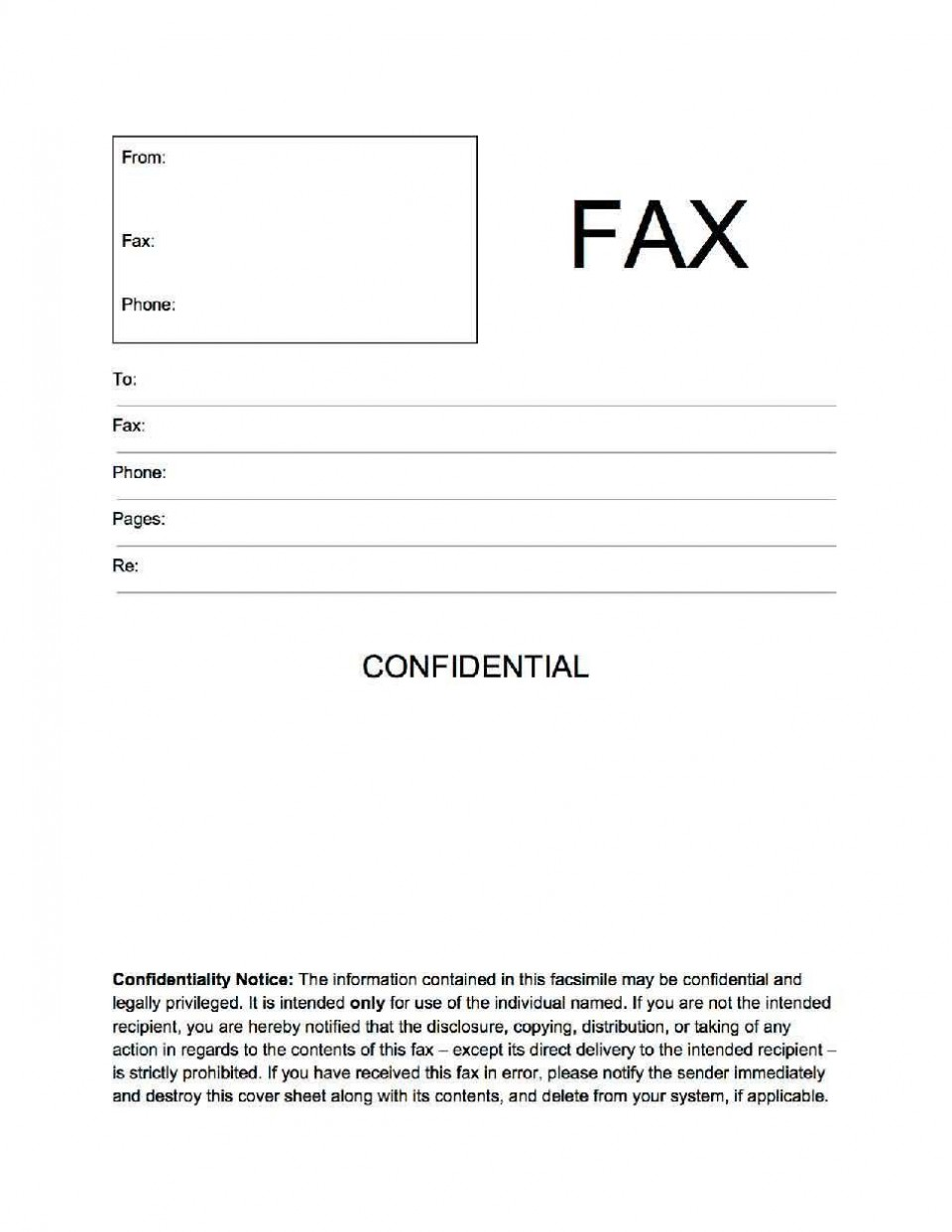 002 Unbelievable General Fax Cover Letter Template Concept  Sheet Word Confidential Example960