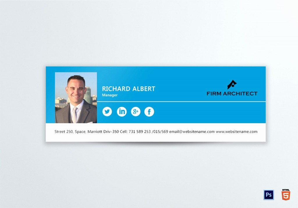 002 Unbelievable Professional Email Signature Template Highest Clarity  Free Html DownloadLarge