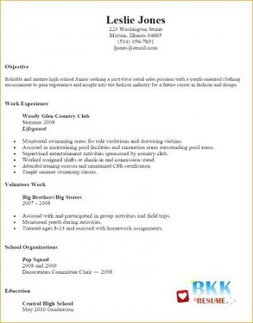 002 Unbelievable Resume Template For Teen High Def  Teenager First Job Australia360