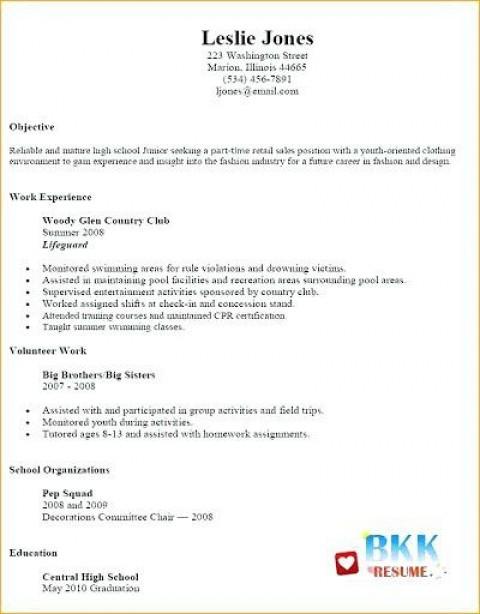 002 Unbelievable Resume Template For Teen High Def  Teenager First Job Australia480