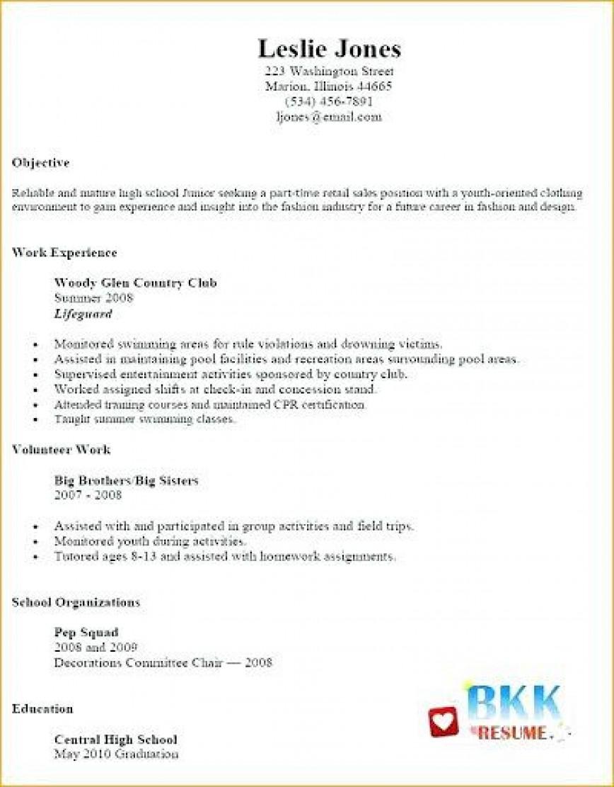 002 Unbelievable Resume Template For Teen High Def  Teenager First Job Australia868