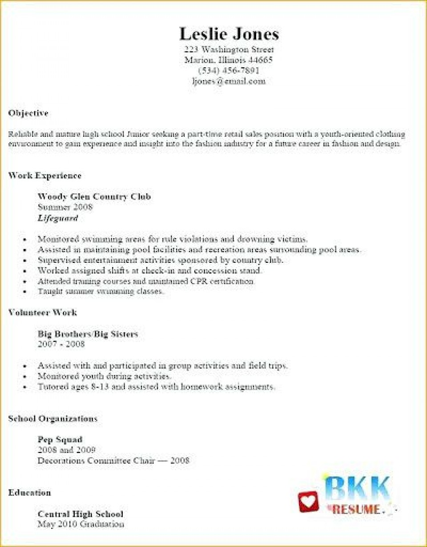 002 Unbelievable Resume Template For Teen High Def  Teenager First Job Australia960