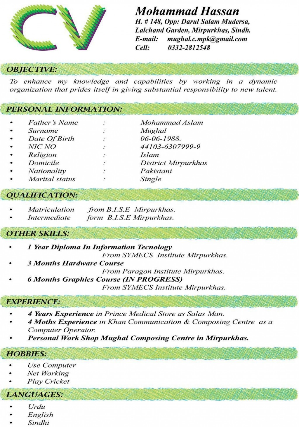 002 Unbelievable Sample Curriculum Vitae Template Download High Definition  Professional Pdf Free For StudentLarge