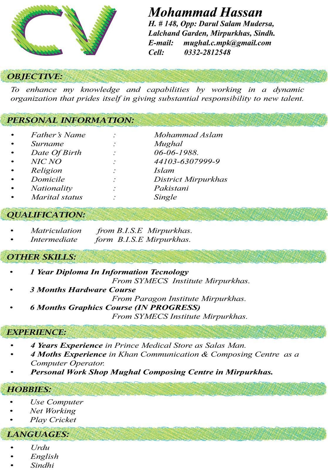 002 Unbelievable Sample Curriculum Vitae Template Download High Definition  Professional Pdf Free For StudentFull