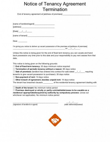 002 Unbelievable Template For Terminating A Lease Agreement Sample  Rental Letter360