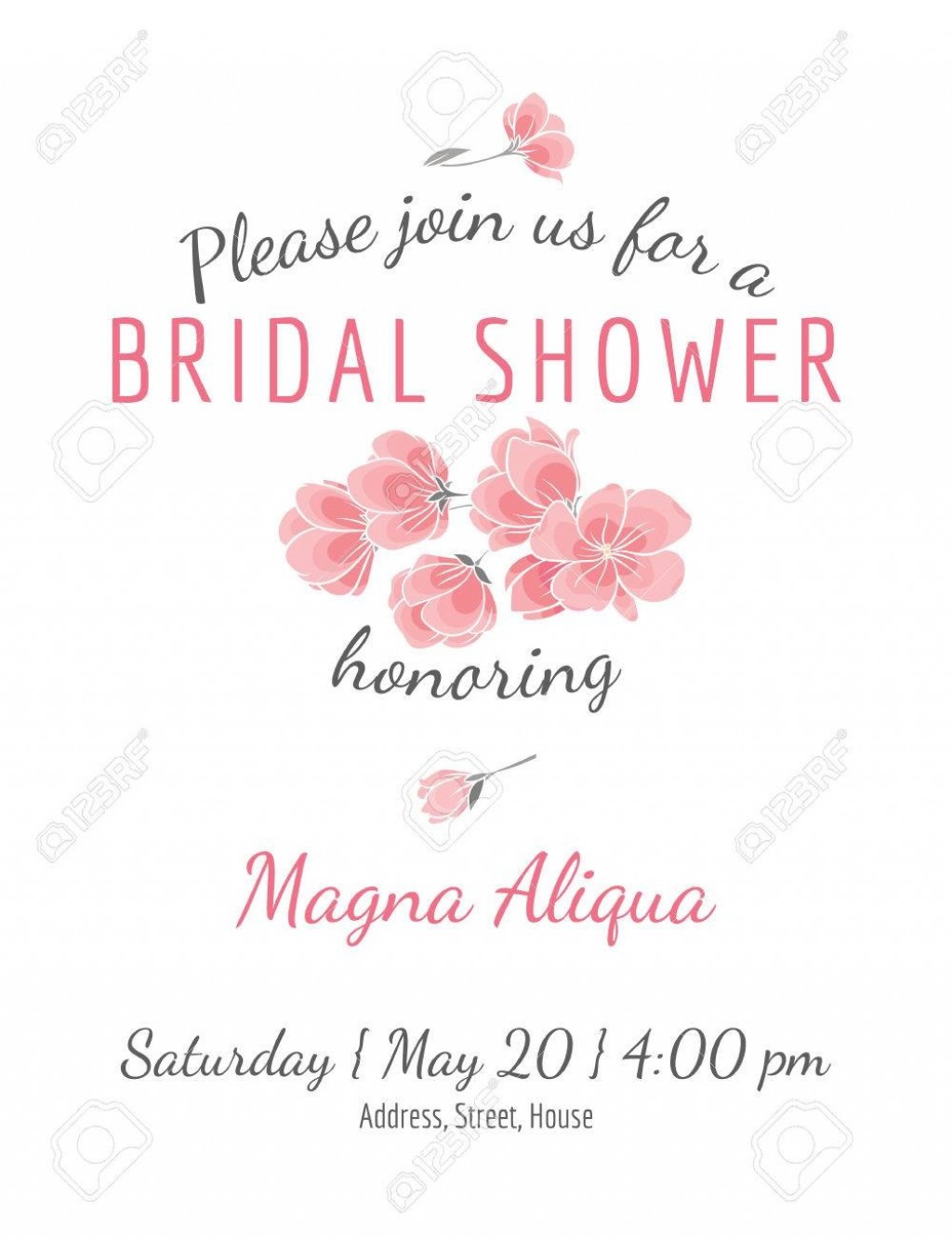 002 Unforgettable Bridal Shower Card Template High Definition  Invitation Free Download BingoLarge