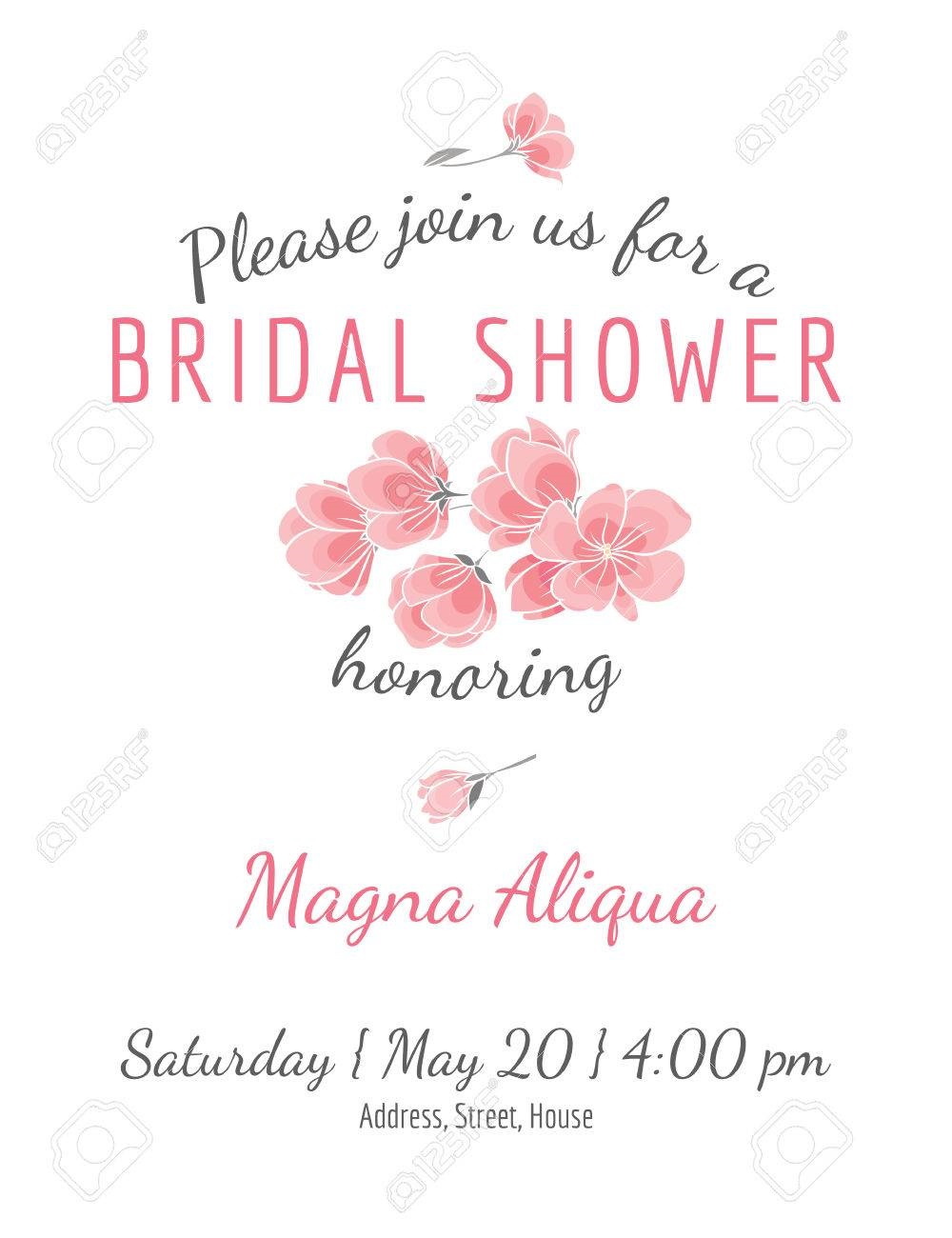 002 Unforgettable Bridal Shower Card Template High Definition  Invitation Free Download BingoFull