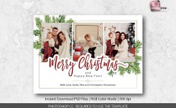 002 Unforgettable Christma Card Template Photoshop High Definition  Free Download Funny