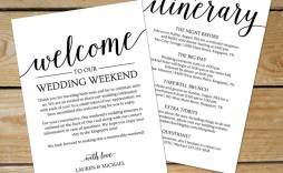 002 Unforgettable Destination Wedding Welcome Letter Template Picture  And Itinerary