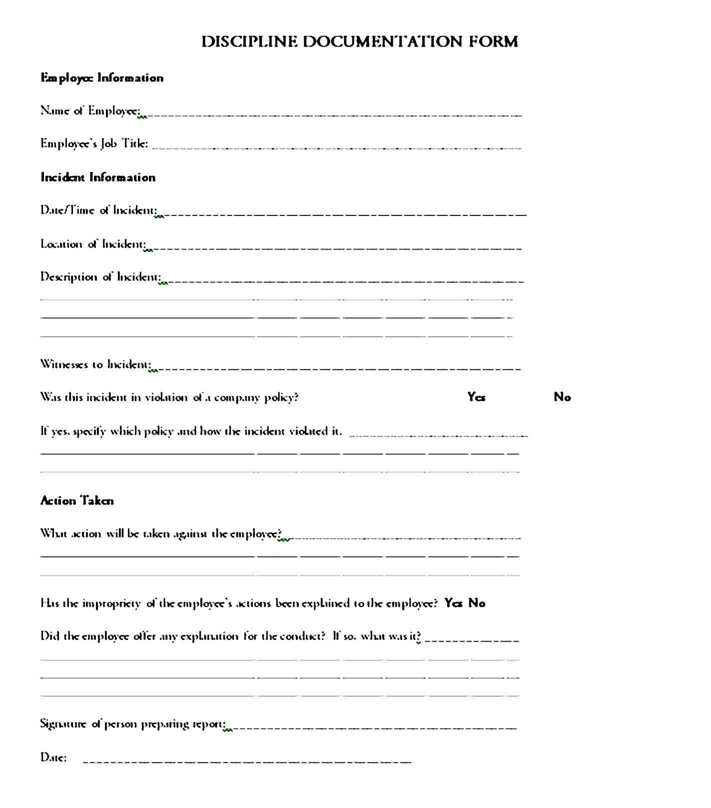002 Unforgettable Employee Write Up Template Highest Clarity  Templates Form Google Doc SheetFull