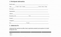 002 Unforgettable Event Registration Form Template Example  Word Excel Microsoft