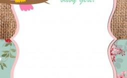 002 Unforgettable Free Baby Shower Template Printable Idea  Invitation Boy Nautical