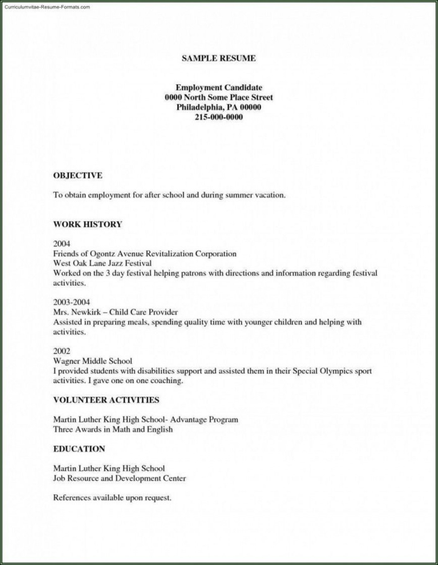 002 Unforgettable Free Basic Resume Template Example  Sample Download For Fresher Microsoft Word 20071400