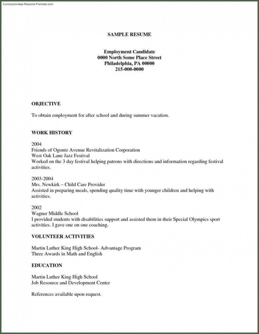 002 Unforgettable Free Basic Resume Template Example  Sample Download For Fresher Microsoft Word 2007868