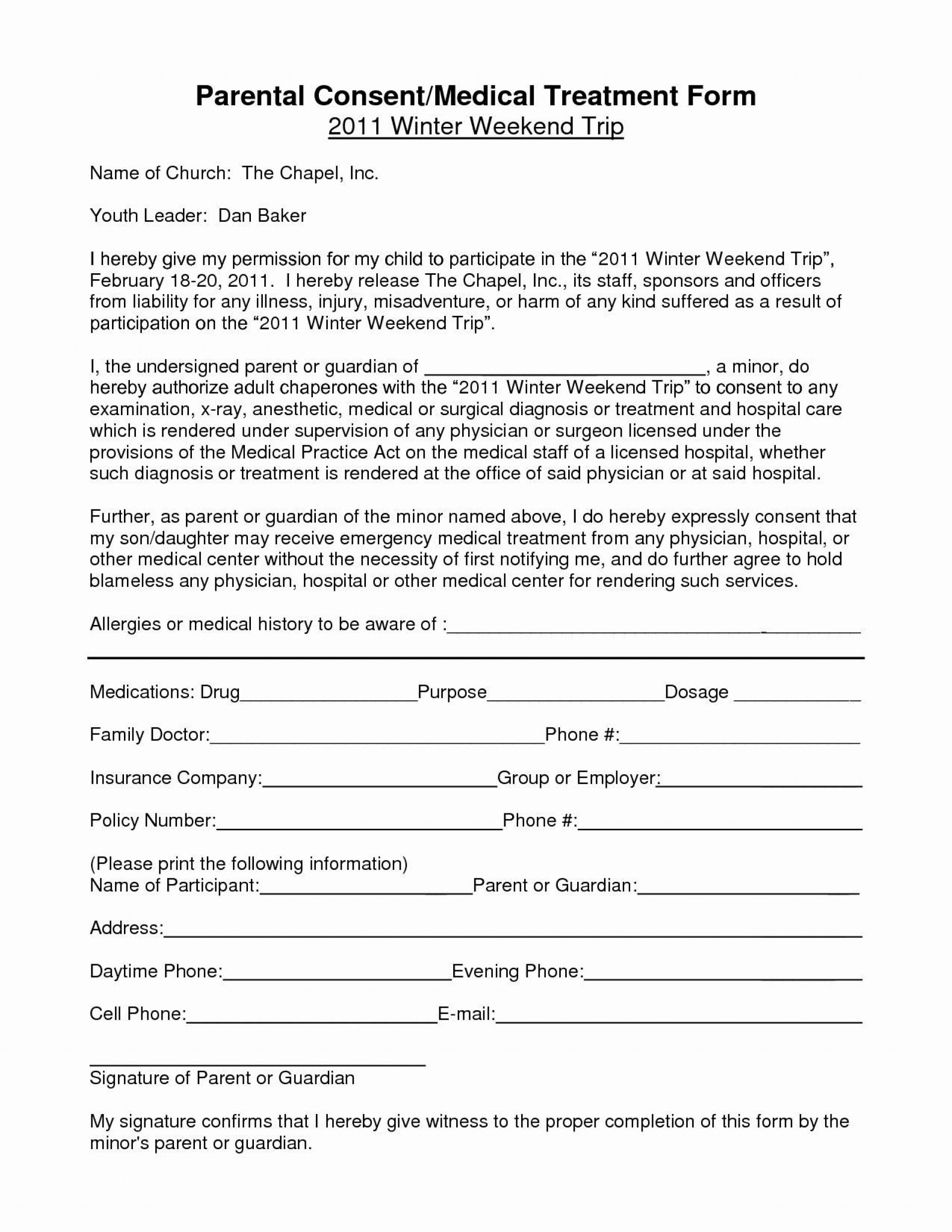 002 Unforgettable Free Child Medical Consent Form Template High Definition  Pdf1920