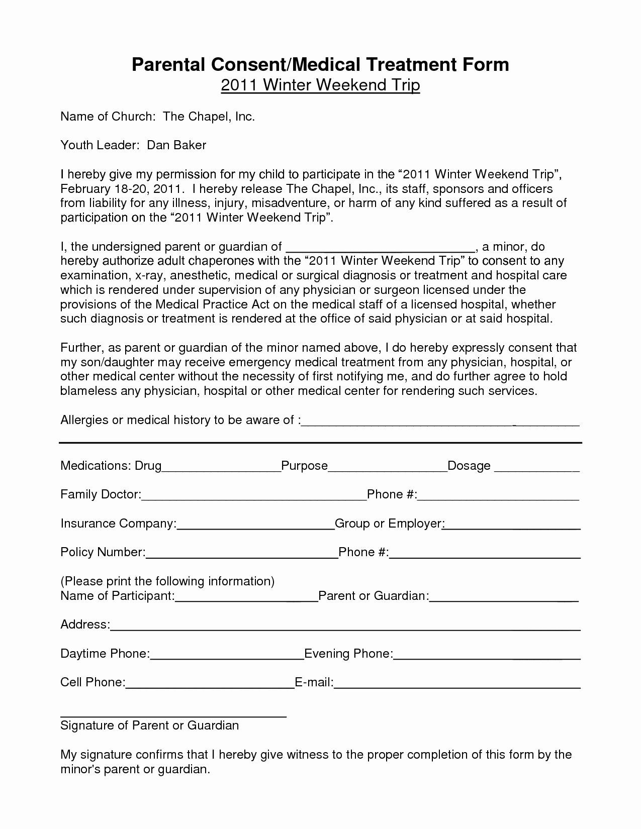 002 Unforgettable Free Child Medical Consent Form Template High Definition  PdfFull