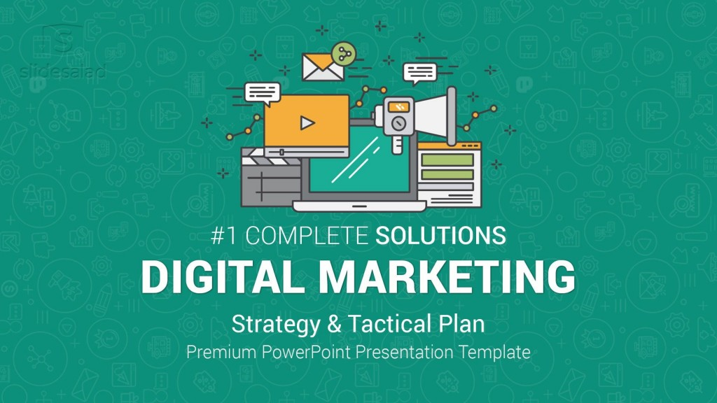 002 Unforgettable Free Digital Marketing Plan Template Ppt High Definition Large