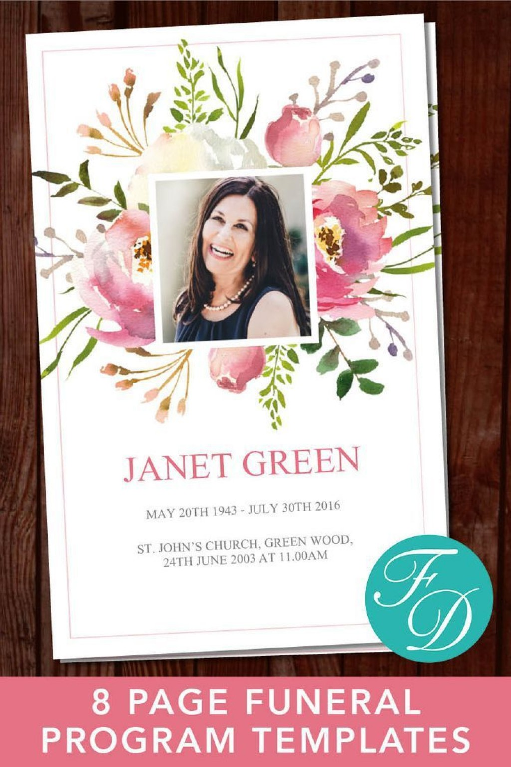002 Unforgettable Free Editable Celebration Of Life Program Template Example Large