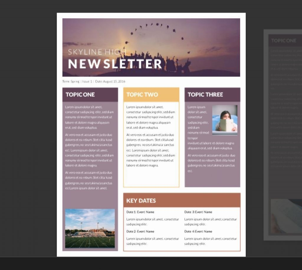 002 Unforgettable Free Newsletter Template For Word 2010 Photo Large